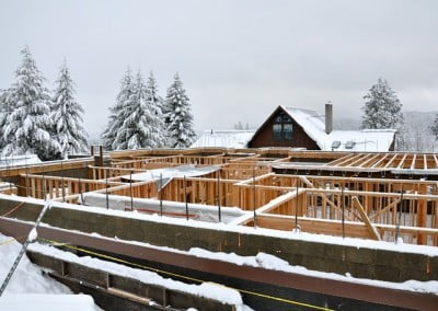 The size of the building becomes more evident as the walls and floors go up.