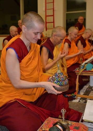 Practicing ceremonies together.