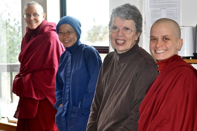 Monastics, trainees, and lay people have a home at Sravasti Abbey.