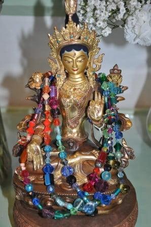 A White Tara statue