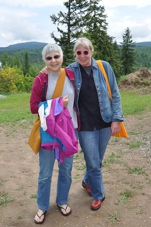 Tanya and Bev are long time Dharma sisters who support each other along the path.