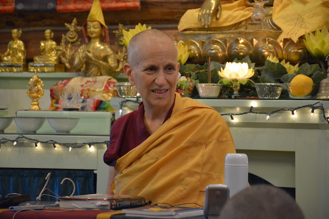 Online teachings with Ven. Thubten Chodron.
