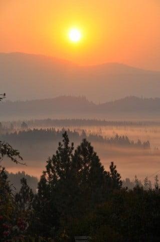 Sunrise over Spring Valley.
