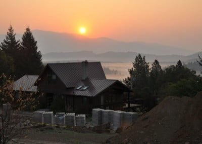 A beautiful sunrise and landscape.