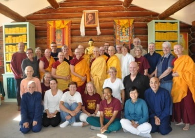 Group photo of abbey community and the retreatants.