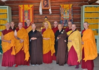 Resident and guest sangha together.