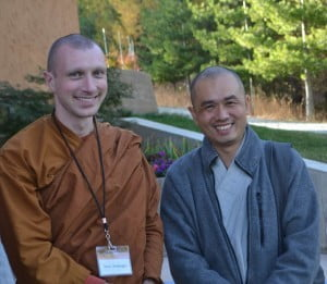 Tan Suhajjo (left) from Pacific Hermitage and Venerable Zhihan from Vancouver, B.C.