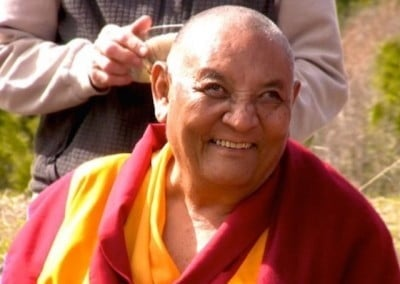 Rinpoche is pleased with the growth of the Abbey community.
