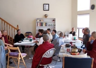 Venerable Chodron kindly answered our questions about Khensur Rinpoche's teachings each morning after breakfast. It was an immense help for many of us.