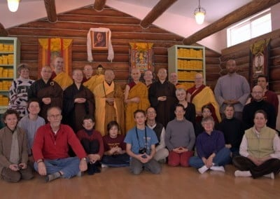 A group photo of the sangha and all the guests who participated in this joyous event.