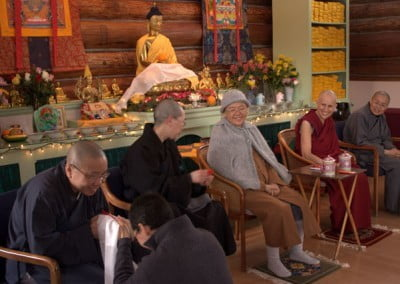We are given an opportunity to ask questions of the bhikshunis after lunch. They share wonderful stories on how they became monastics.