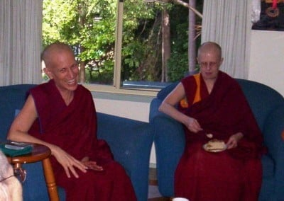 Venerable Margaret McAndrew and Venerable Chodron were both part of the Dorje Pamo nun's community in France many years ago.