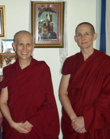 Venerable Tenzin Tsepal was Venerable Chodron's student at Dharma Friendship Foundation and visited Sravasti Abbey for several months in 2004.