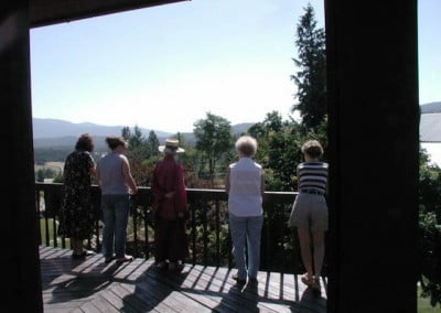 From the deck, we have a lovely view of the valley below.