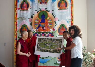 Georgia Milan, one of the coordinators for the 1,000 Buddha project, shares an artist's rendering of the finished endeavor. It is so inspiring!