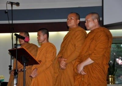 Thai monks from southern Washington offer chanting in Pali.