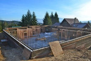 Framing begins for the first-story rooms, which include the Kwan Yin entryway, chapel, and women's guest rooms.