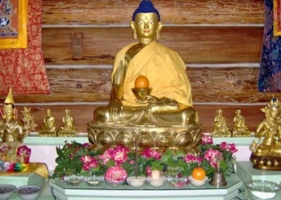 The Shakyamuni Buddha statue seemed to take on a glow as the week of Rinpoche's teachings progressed.