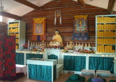 A photo of the altar set up prior to the initiation.