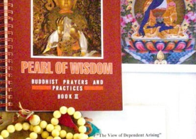 Dharma materials to guide the participants during their 5 meditation sessions each day.