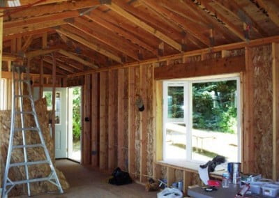 After the electrical work is complete it can be inspected along with the framing.