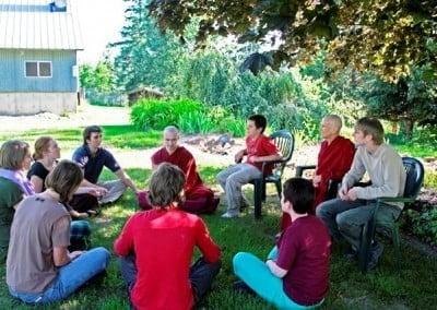 Daily group discussions among the young adults and Venerable Chodron were the favorite time of day.