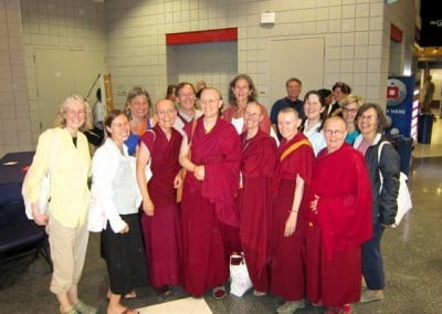 A group photo with many of our local Dharma friends who took great care of <br> us.