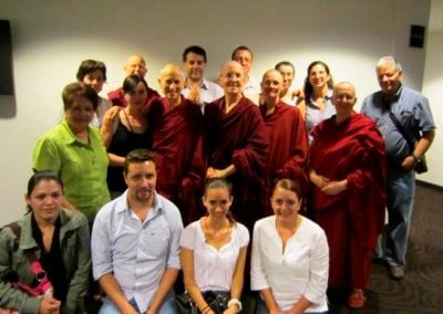 Many of our wonderful Dharma friends from Mexico attended the week long event.