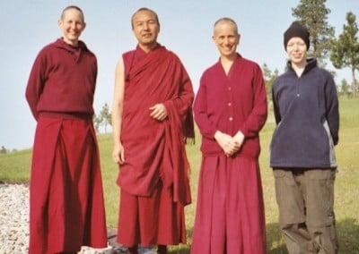 Venerable Tenzin Tsepal, Geshe Gendun Samdup, Venerable Thubten Chodron, and Karri