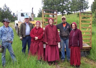 The sangha and the road crew on the auspicious day.