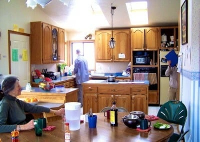 "It's always fun to take a ""before"" picture. Here's the kitchen just a day before the demolition began."