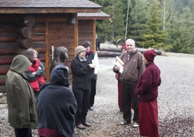 Formal teachings spill out into informal discussions that took place at breakfast, lunch, and outside the meditation hall after each session.