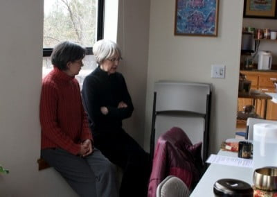 Nancy and Julie go over some of the points of the teachings with each other as good Dharma friends do.