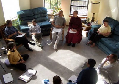 A lot of creative dialogue and strategies abounded during the FOSA meeting. Each participant committed themselves to the success of the Abbey's growing monastic and lay community.