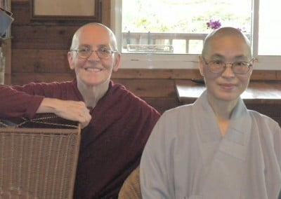 Venerable Semkye and Venerable Hong Zen. Along with Venerable Chodron and Venerable Jendy Shih, Venerable Hong Zen translated much of the ordination and class courses into English, which will be of immeasurable benefit for future English-speaking bhikshuni candidates.