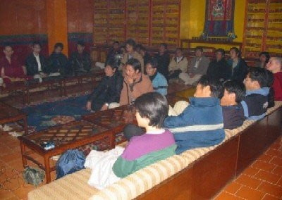 """I was asked to give a talk to some of the Tibetan students, at Norbulingka, where they are currently studying. Most of them had come from Tibet in the last few years."""