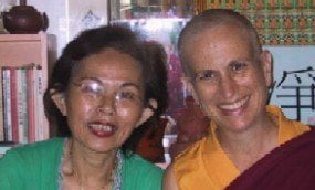 Venerable poses with Madame Wong