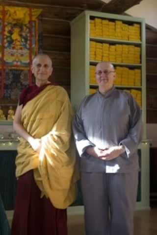 Dianne and Venerable Chodron.