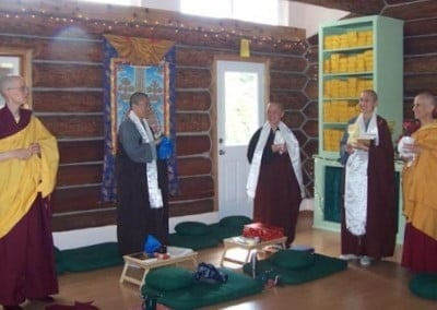 Venerable Tarpa (Jan) also presented gifts also to all the Venerables. You could feel the joy!!