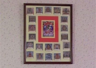After reciting Tara's mantra during the head shaving, it seems auspicious to show a picture of the 21 Taras.