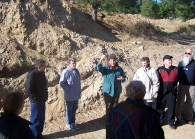 Jo Simpson heads one of the tour groups sharing her in depth knowledge of <br> the construction of Gotami.