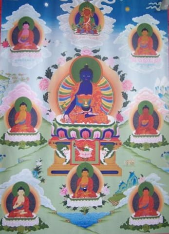 The consecration ceremony invites all <br> the Buddha and bodhisattvas to dwell within the thangka, blessing all those who see it.