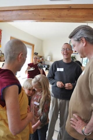Venerable greets Jeff, Brea and Landen.