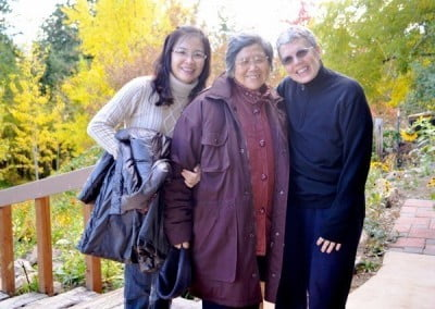 Zopa led an Abbey tour for Sherry and Lao Pusa from Taiwan who <br> accompanied Venerable Jendy and Venerable Mingjia on this visit.