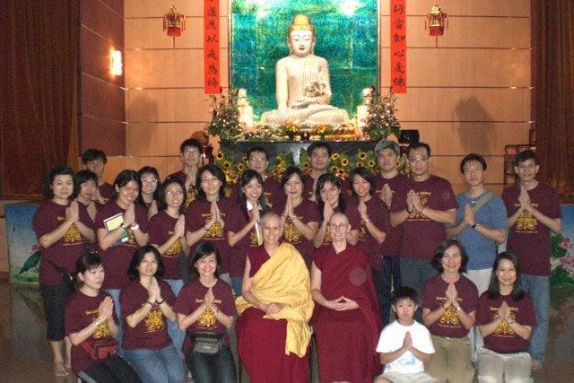 Meeting our Singaporean Dharma Friends