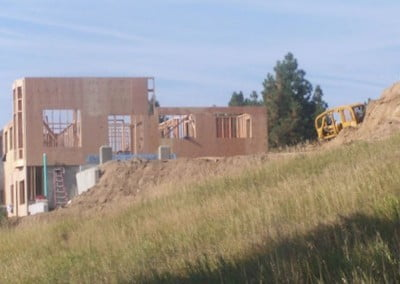 The walls of the east elevation seem to grow overnight.
