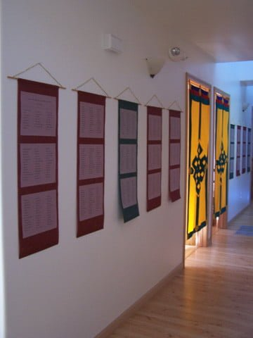 More than eleven hundred donors are named on the  scrolls that grace the walls of Gotami House for the celebration.