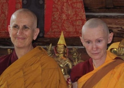Venerable Chodron and Venerable Samten