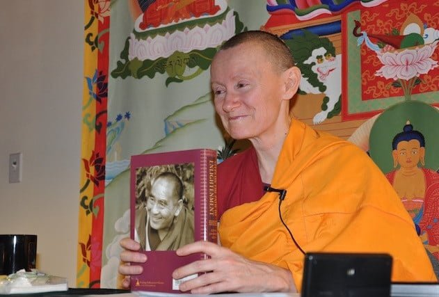 Abbey monastics train to share Buddha's teachings.