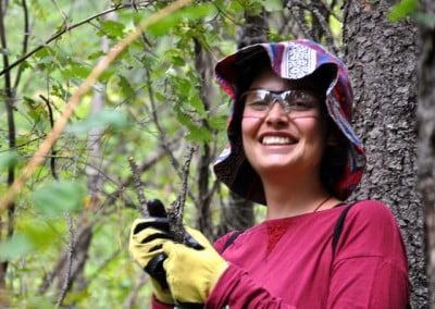 Alejandra enjoys the forest.